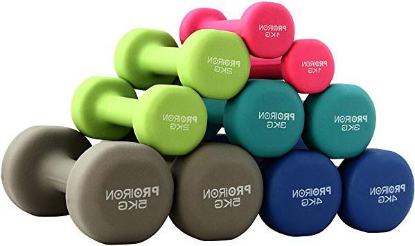 1-10kg Set di 2 PROIRON Pesi Palestra in Casa Fitness e Palestra Manubri e Pesi Fitness Pesi per Palestra Manubrio